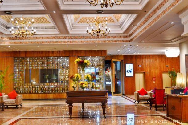 The beautiful lobby of Clarks Amer Jaipur