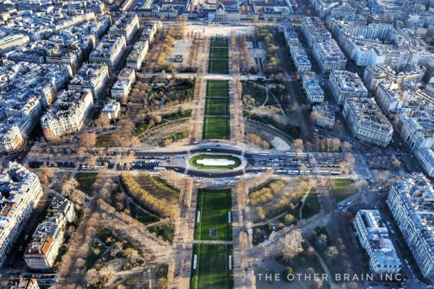 Champ de Mars view from Eiffel Tower is must to see while visiting paris
