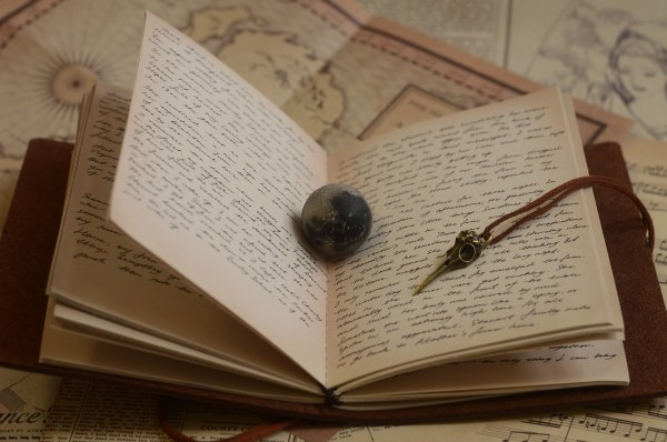 Books Moon Writing Paper Book Retro Page