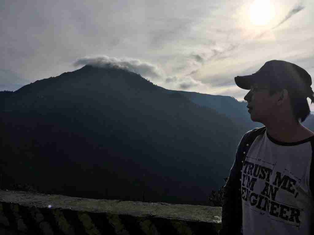 sunrise in mountain of sagada
