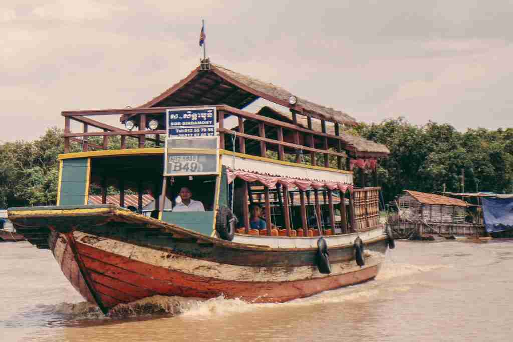 big boat in tonle sap lake cambodia