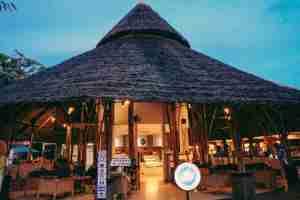 nipa hut style restaurant