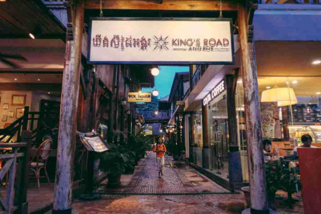 kings road in siem reap