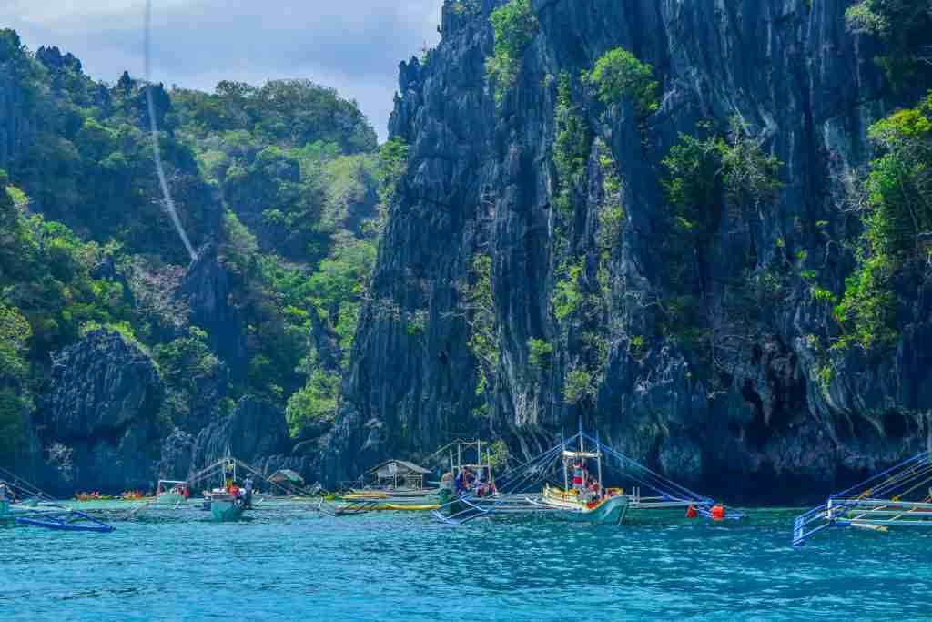 big rock formation walls of big lagoon