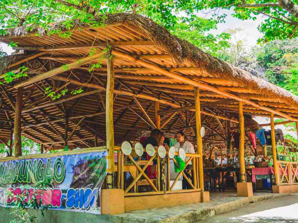 nipa hut store and eatery in minalungao national park