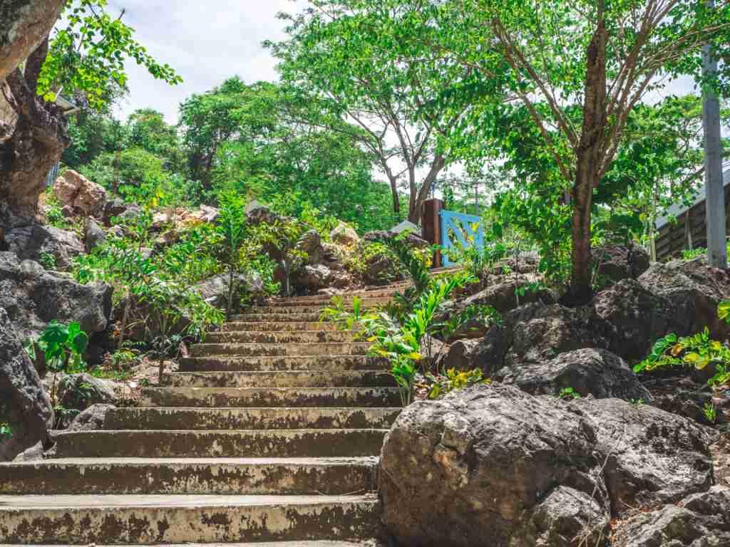 hundred of steps stairs in minalungao national park nueva ecija