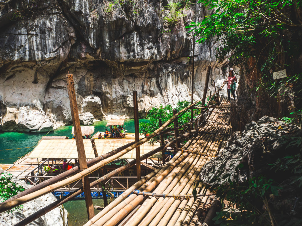 bamboo bridge in minalungao national park
