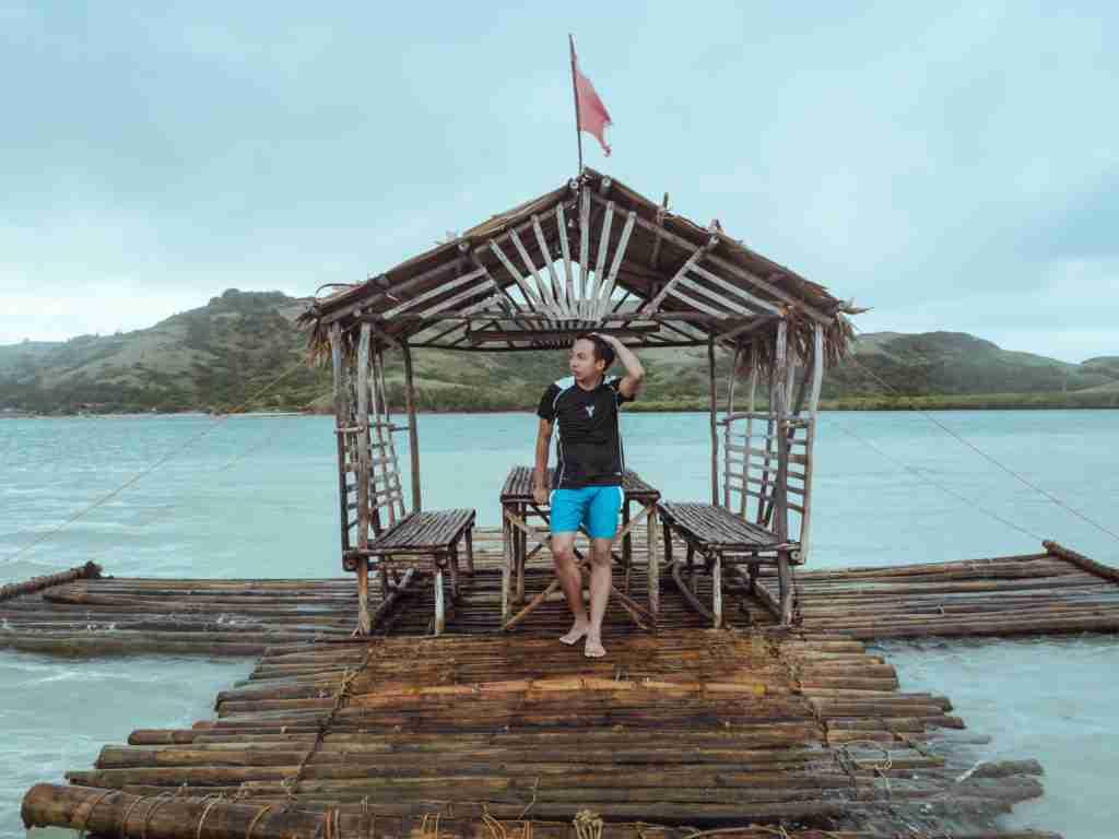 nipa huts in manlawi sandbar