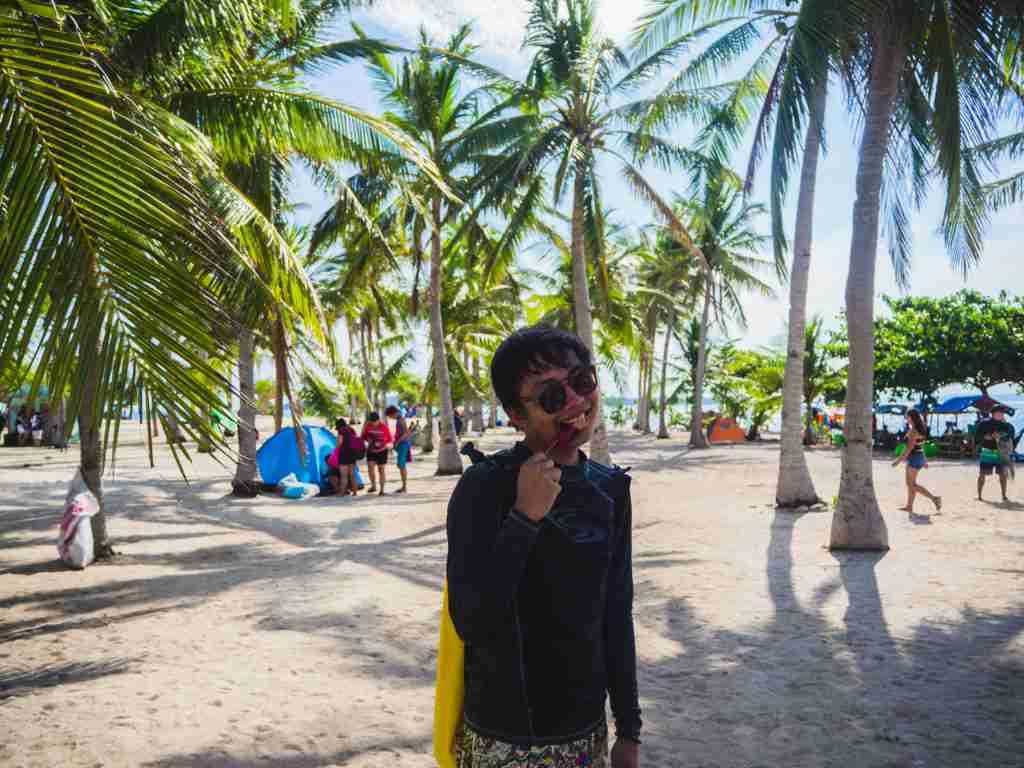 tinalisayan island coconut trees