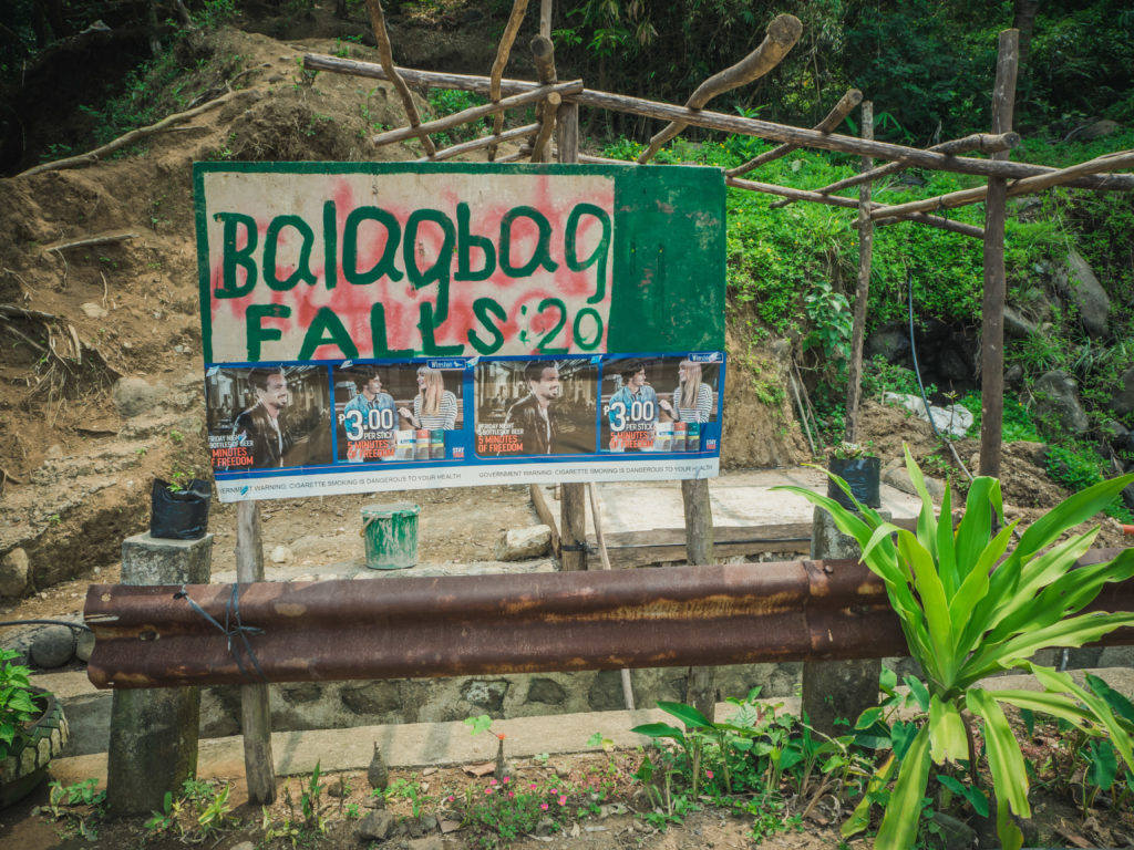 Balagbag falls entrance
