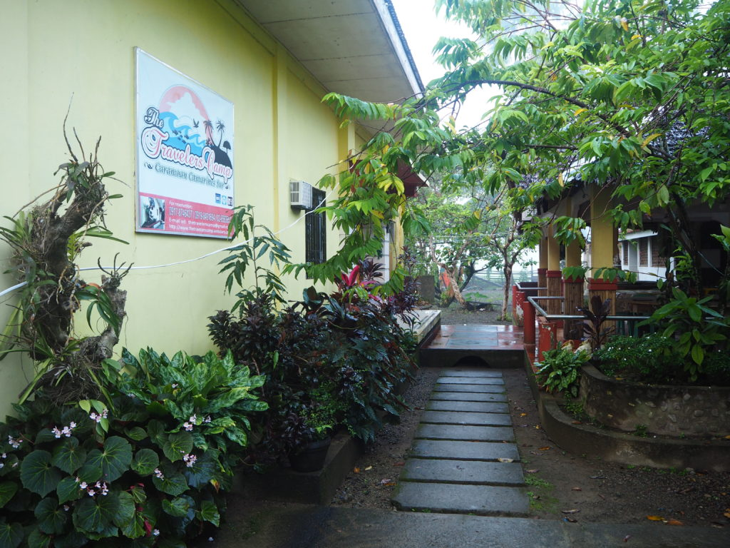 travelers camp entrance with low budget accommodation in caramoan