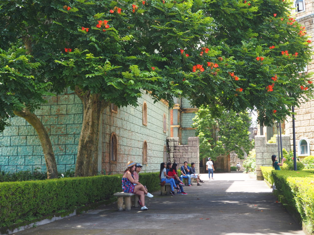 bench at the park fantasy world in lemery batangas