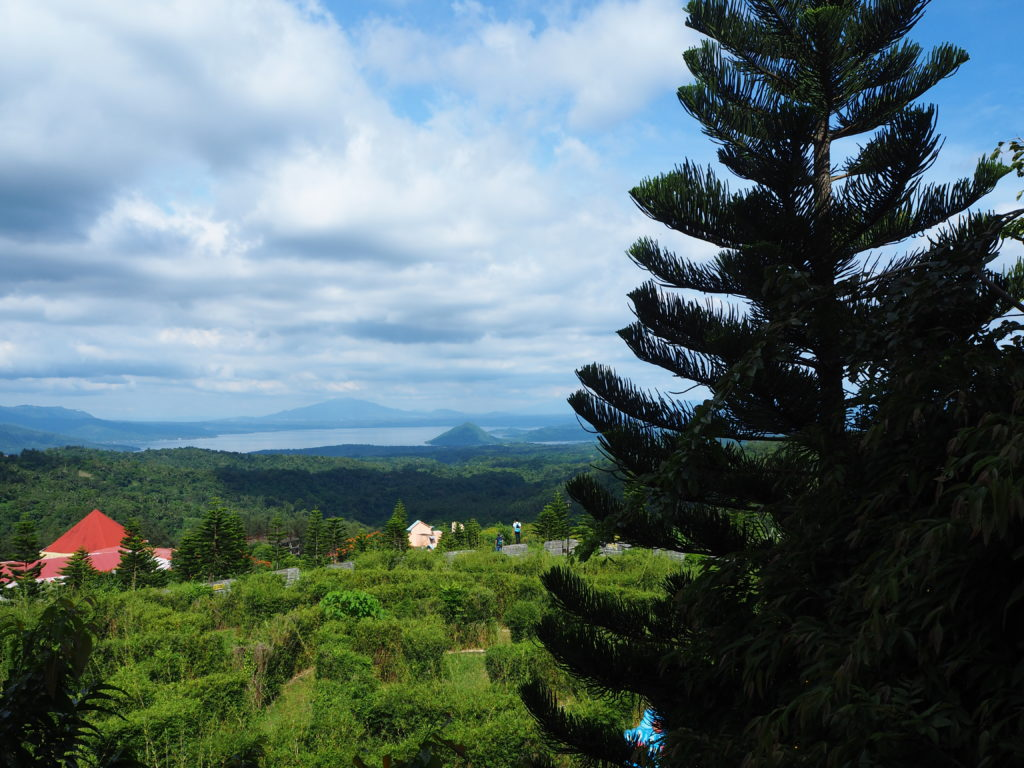 taal volcano view from fantasy world in lemery batangas