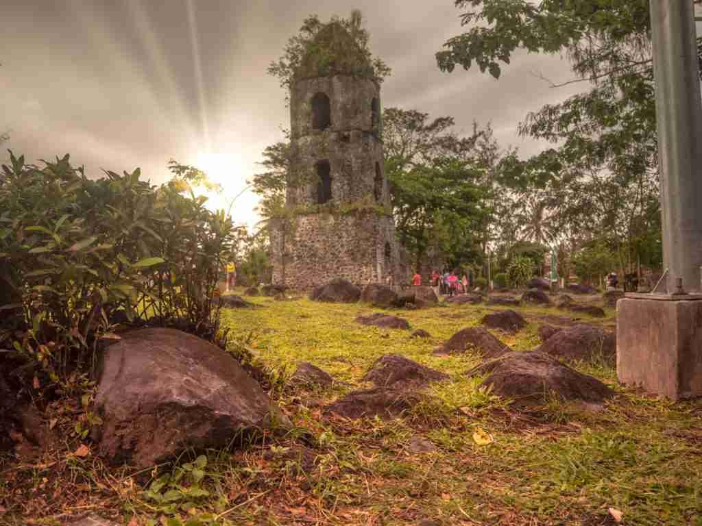 Cagsawa Ruins with sunlight