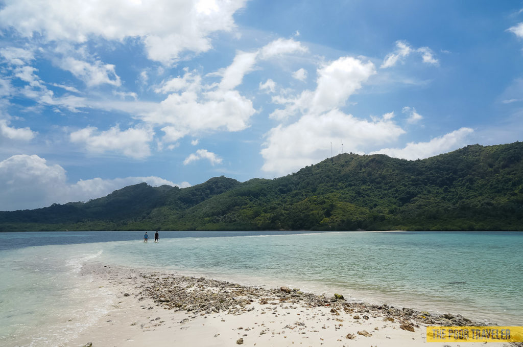 snake island sandbar el nido palawan