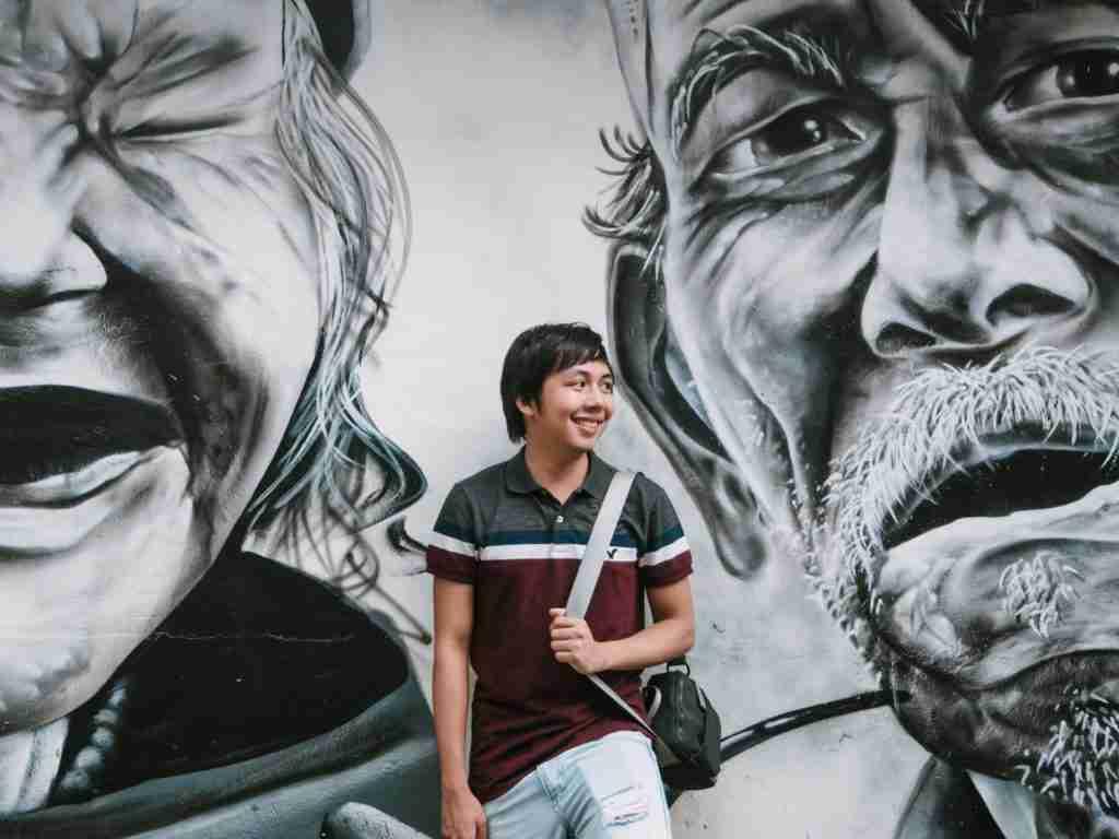 wall graffiti in haji lane in singapore