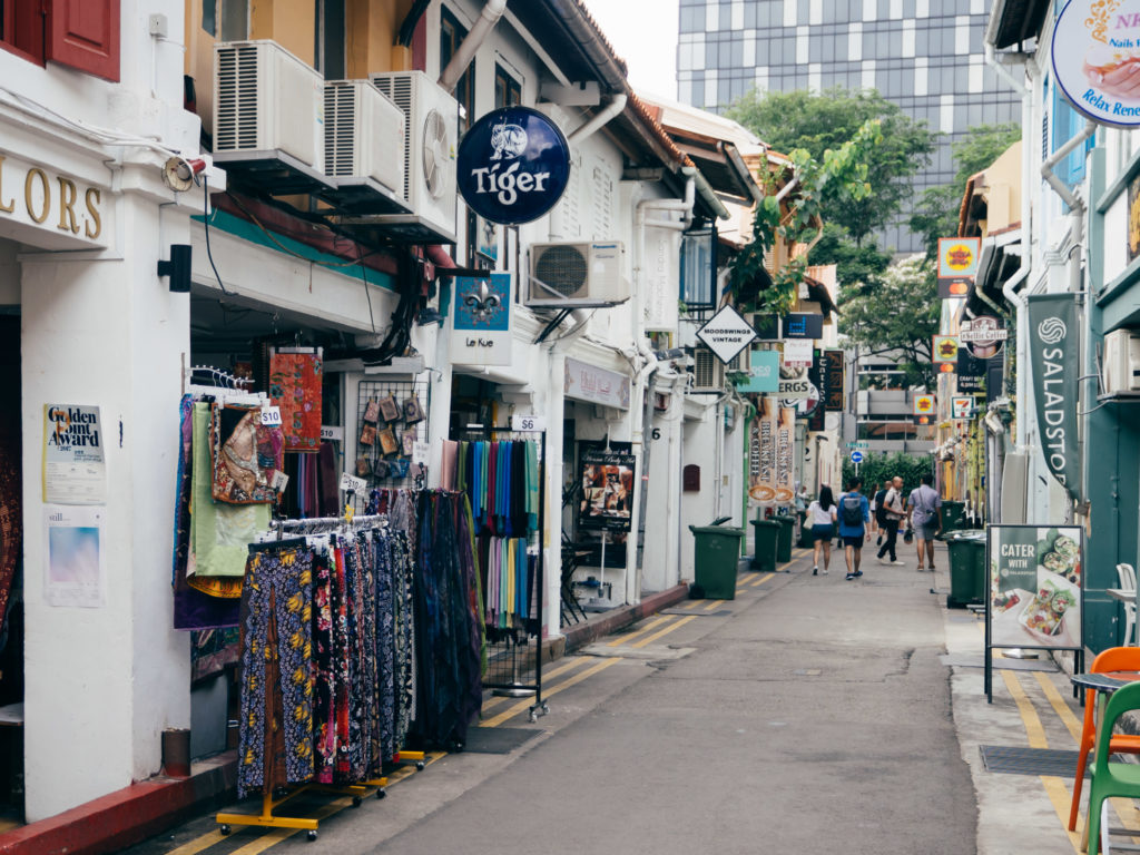 Different varieties of stores in Haji Lane
