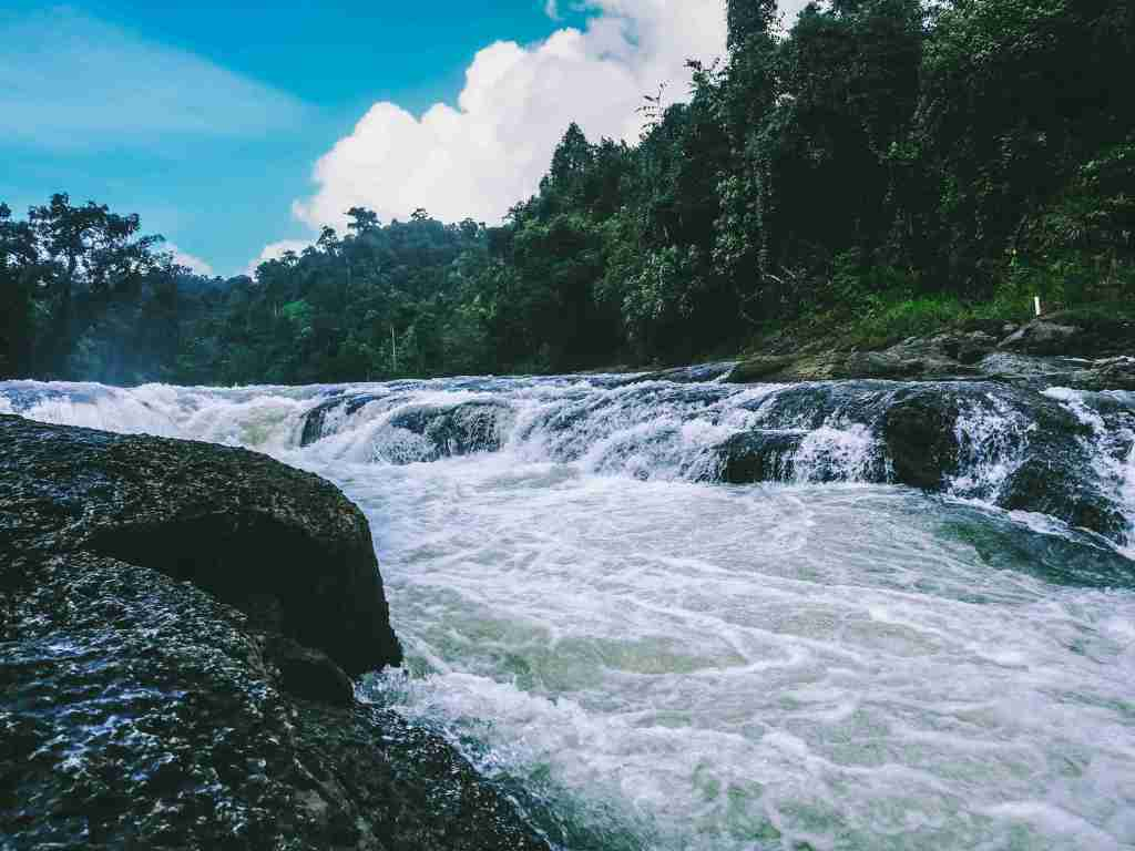 Clear water of Ulot River nestled in Samar Island Natural Park