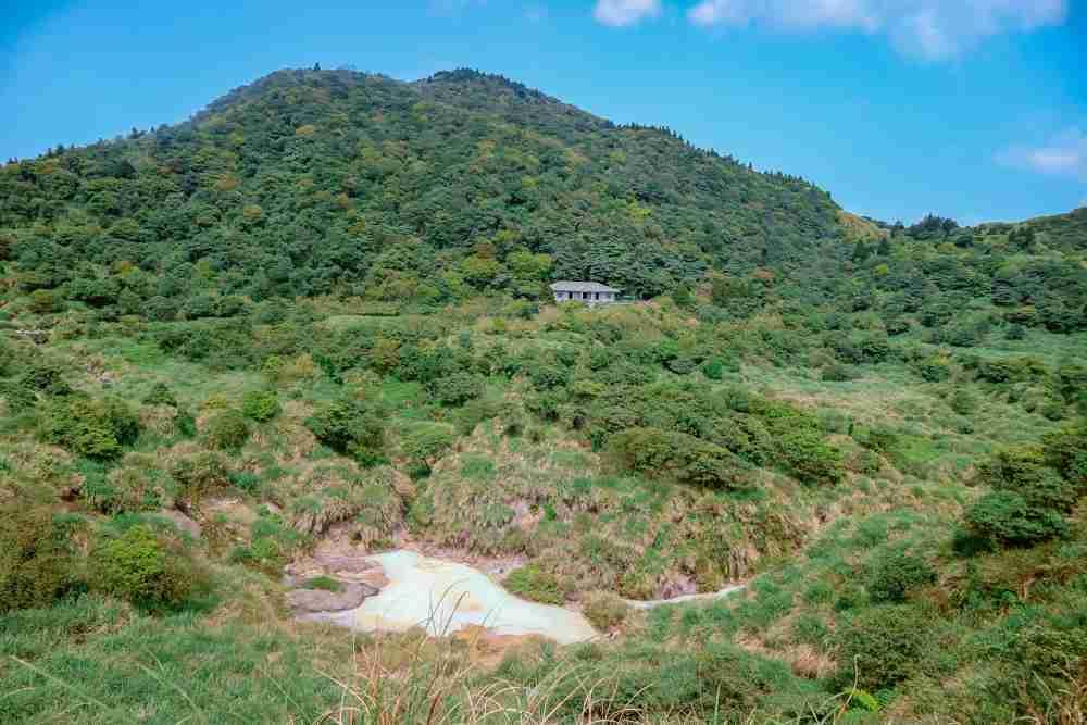 Sulphur Lake in Yangmingshan National Park Taiwan