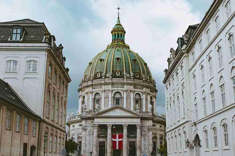 1 month europe trip frederiks church copenhagen