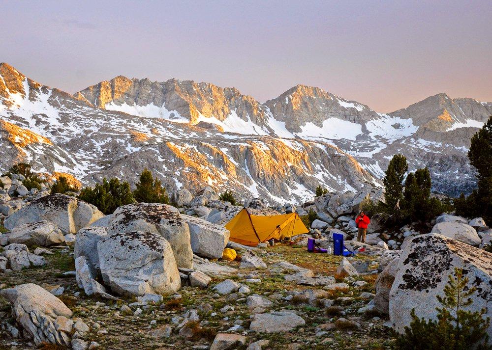 camping in the Sierra