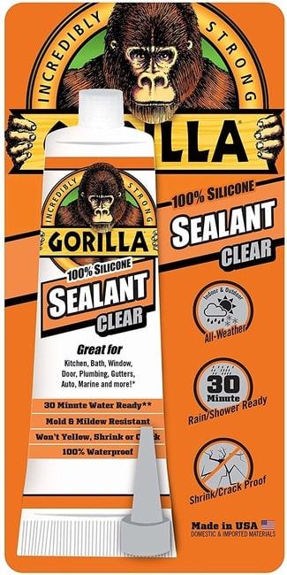 Gorilla Brand 100 Percent Silicone Sealant for pond liner