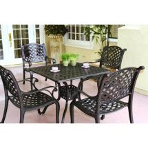 5 Piece Cast Aluminum Patio Dining Set