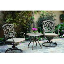 Darlee Florence 3 Piece Patio Bistro Set Outdoor Store