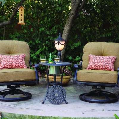 Darlee Elisabeth 3 Piece Cast Aluminum Conversation Seating Set