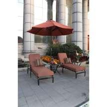 Darlee St Cruz 5 Piece Chaise Lounge Set Outdoor Store