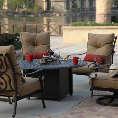 Darlee Santa Anita 5 Piece Patio Fire Pit Seating Set