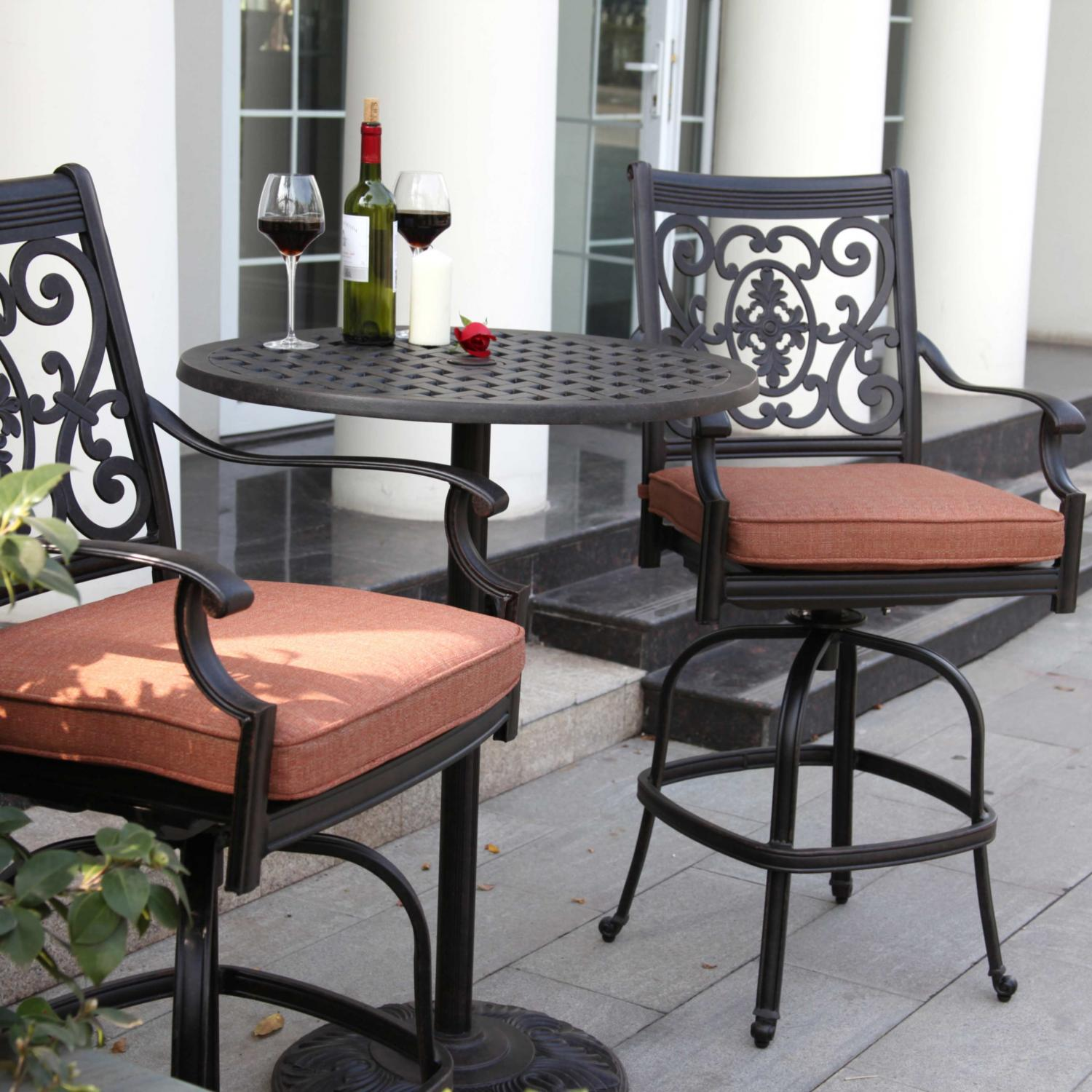 3 piece outdoor table and chairs chair bed uk argos premium patio bar sets shop at the store darlee st cruz counter height set
