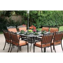 Darlee Charleston 9 Piece Cast Aluminum Patio Dining Set