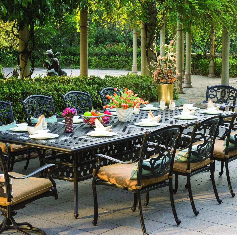 darlee santa monica 11 piece cast aluminum patio dining set