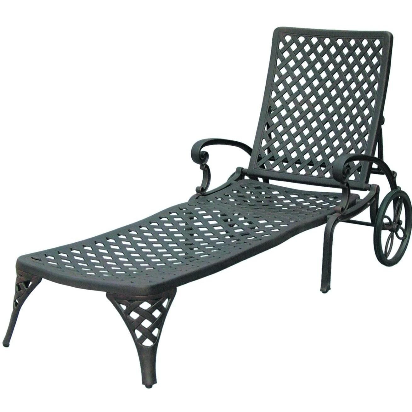 iron chaise lounge chairs nursery chair nz darlee nassau cast aluminum patio