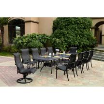 Darlee Victoria 11 Piece Resin Wicker Patio Dining Set