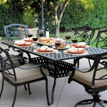 Darlee Ten Star 7 Piece Cast Aluminum Patio Dining Set