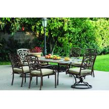 Darlee Santa Barbara 7 Piece Cast Aluminum Rectangle Patio