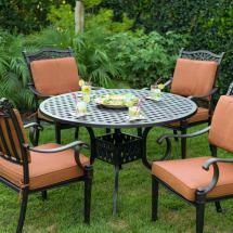 Darlee Charleston 5 Piece Cast Aluminum Patio Dining Set