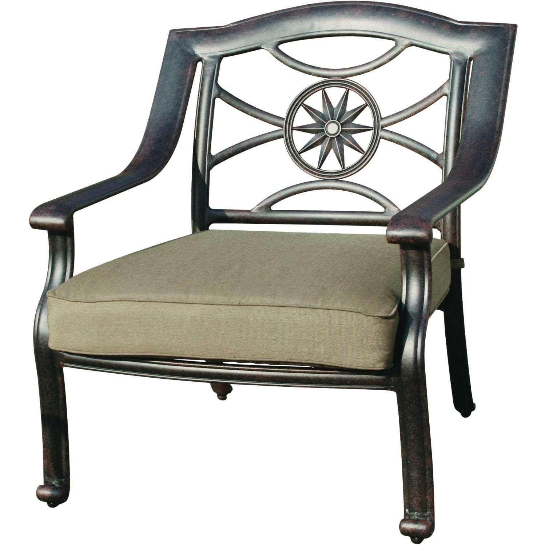 patio club chair computer wheels darlee ten star deep seating cast aluminum