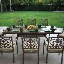 Darlee Santa Barbara 9 Piece Granite Top Patio Dining Set