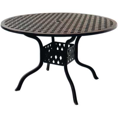 Darlee Series 30 48-Inch Cast Aluminum Patio Dining Table