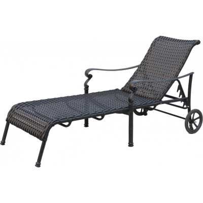 Darlee Victoria Resin Wicker Patio Chaise Lounge