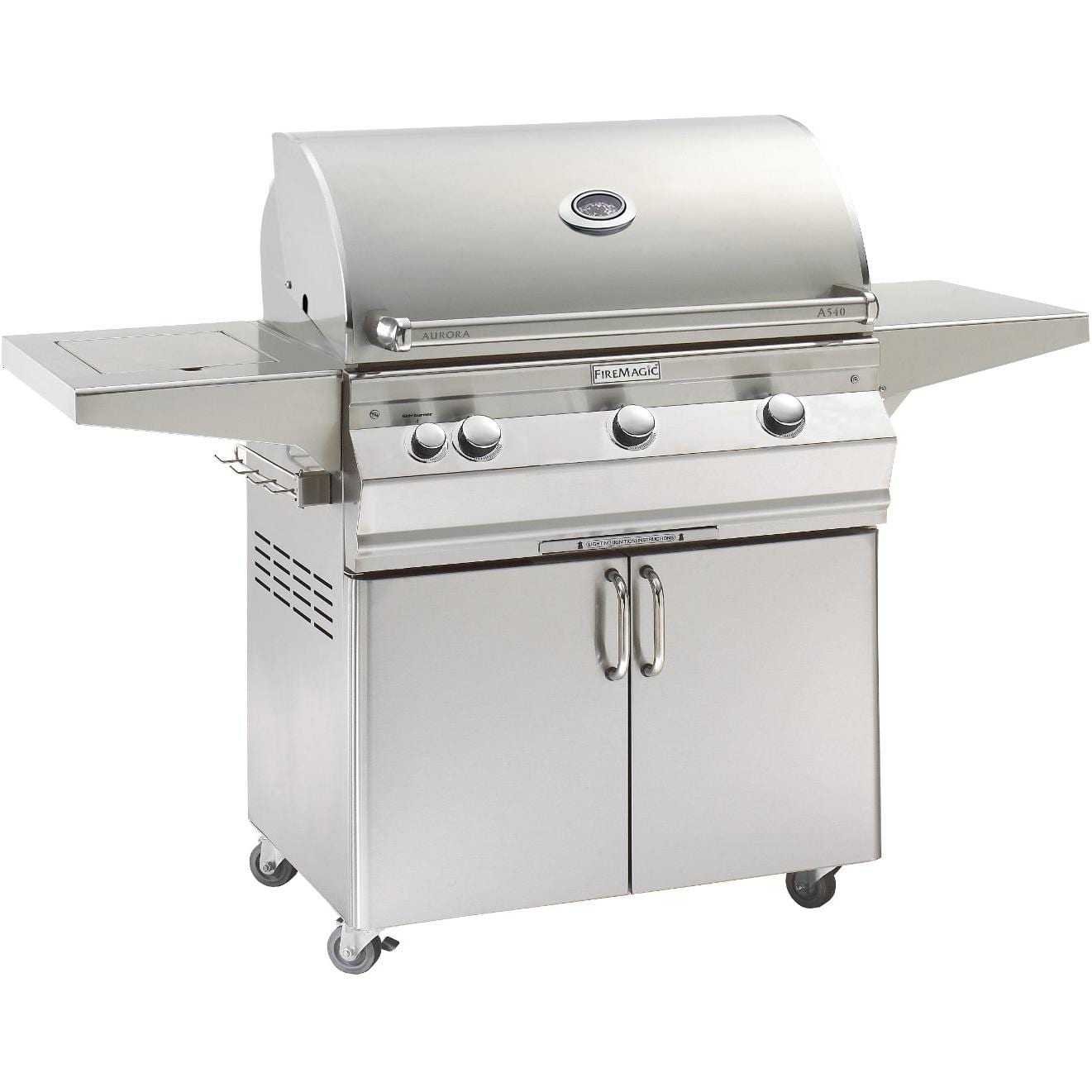 outdoor kitchen with freestanding grill commercial supply store fire magic aurora a540s 30 inch natural gas