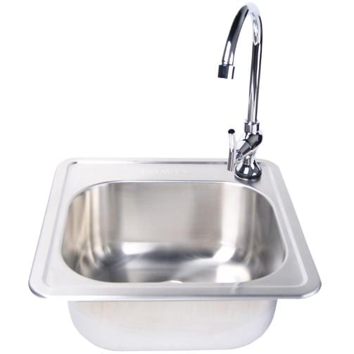 Fire Magic Stainless Steel 15 X 15 Sink Faucet Combo