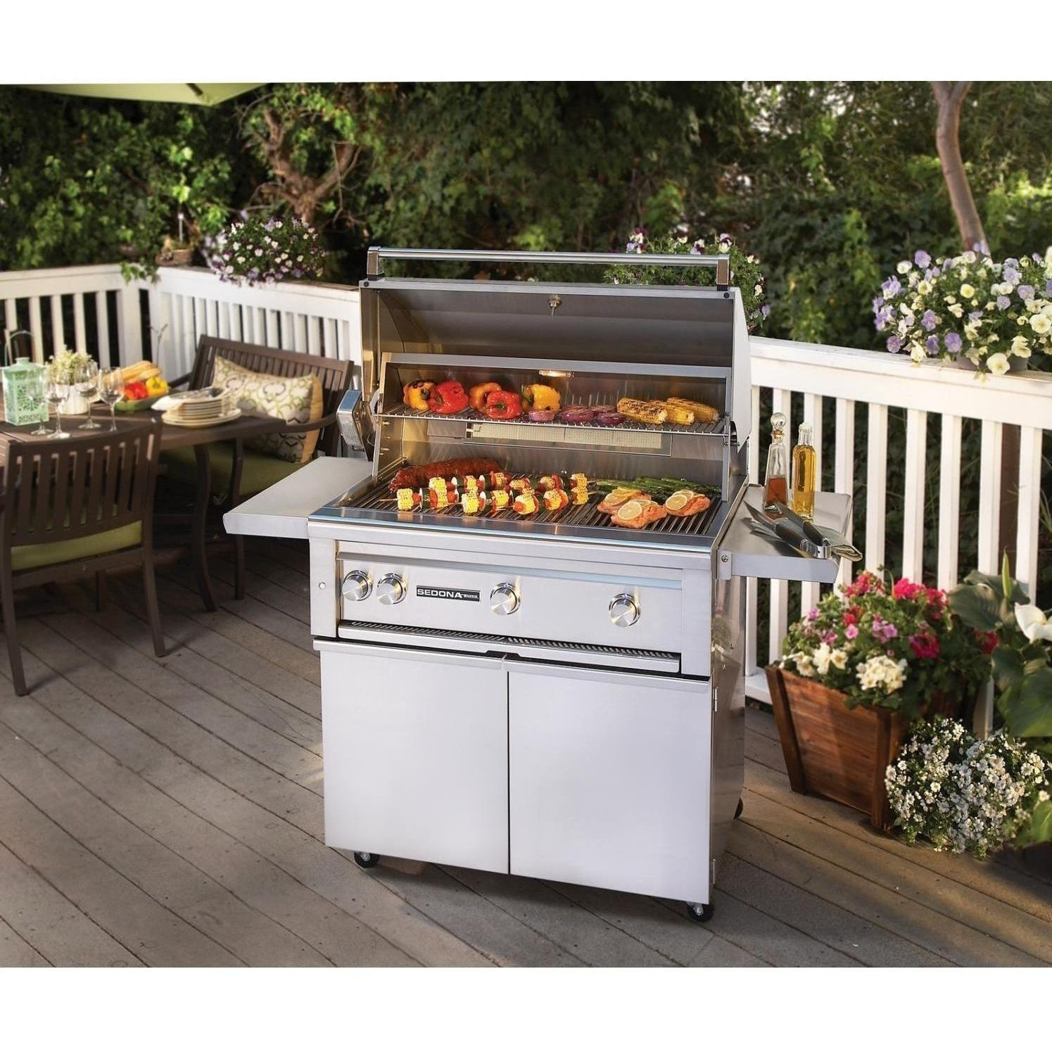 outdoor kitchen with freestanding grill honest coupon lynx sedona 36 inch propane gas bbq the store