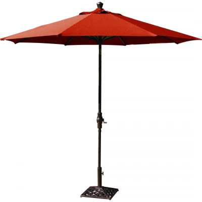 Darlee 9 Foot Aluminum Bar Height Auto Tilt Market Umbrella