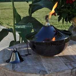 Starlite Patio Maui Grande Black Nickel Tabletop Torch