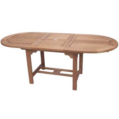 Royal Teak Collection Large Oval Family Expansion Table