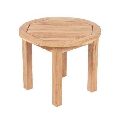 Royal Teak Collection Miami Round Side Table - MIASTR
